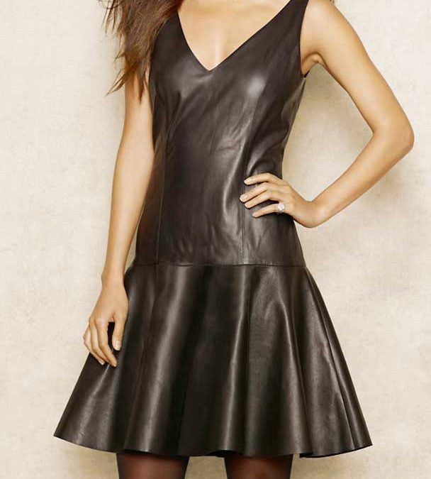 Leather: a Fresh Take on the Little Black Dress