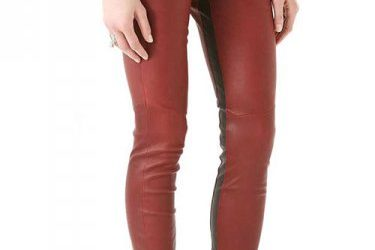 8 Tips to Rock a Pair of Red Leather Pants