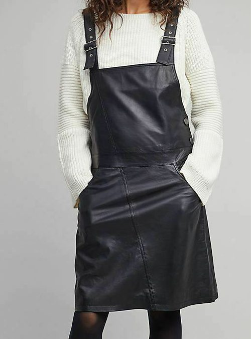 What Is a Leather Dungaree Dress?