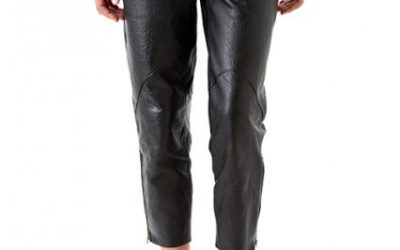 How to Rock a Pair of Leather Capris