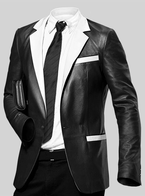 How to Wear a Leather Blazer With a Suit