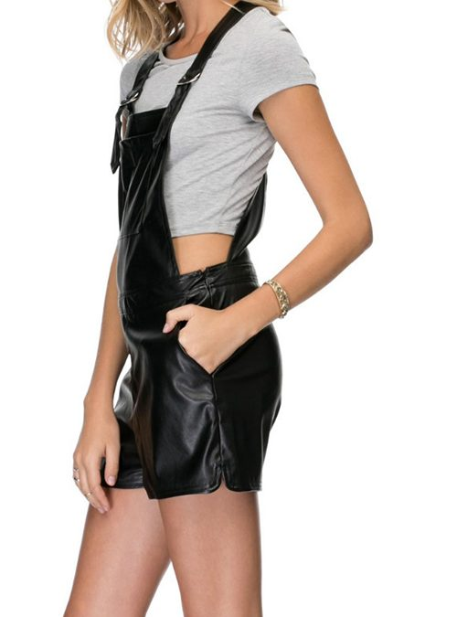 What Are Leather Dungaree Shorts?