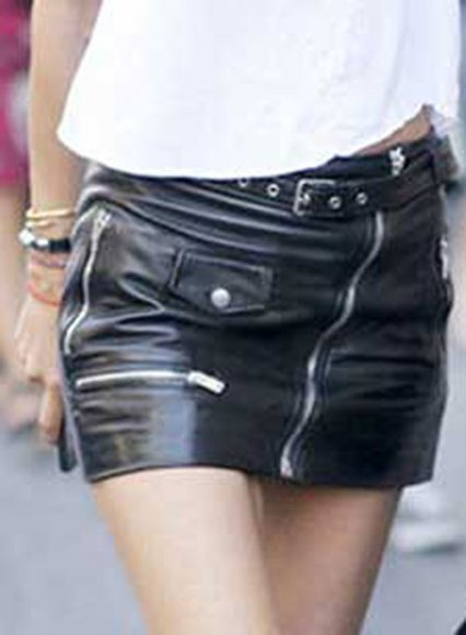 Flattery Leather Skirt - # 446