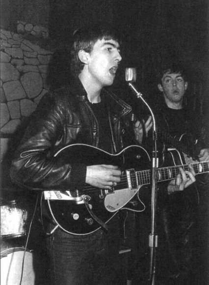 George Harrison The Beatles Leather Jacket and Pants Set