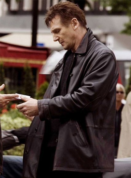 Liam Neeson Taken 2 Leather Trench Coat