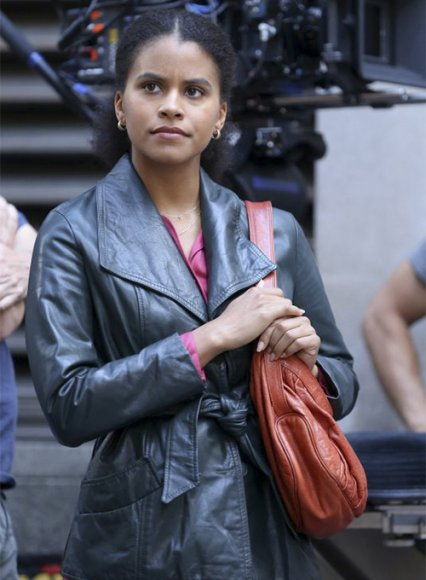 Zazie Beetz Joker Leather Jacket