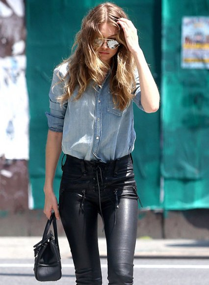 Gigi Hadid Leather Pants