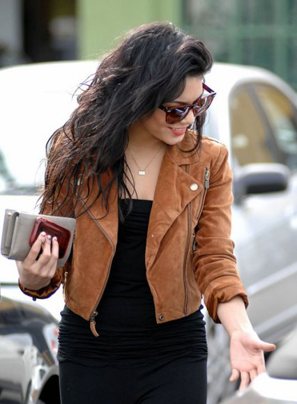 Vanessa Hudgens Leather Jacket #3