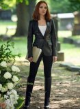 Scarlett Johansson The Winter Soldier Leather Blazer