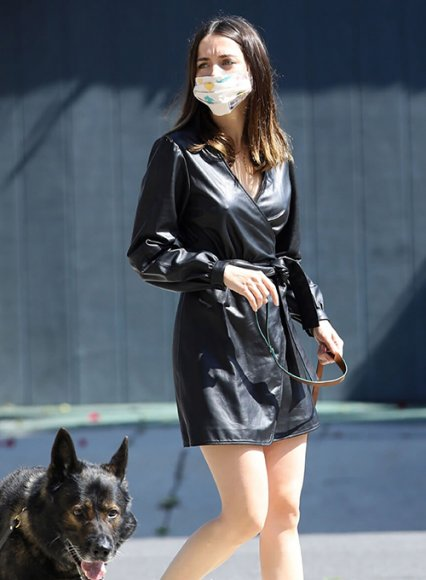 Ana De Armas Leather Dress