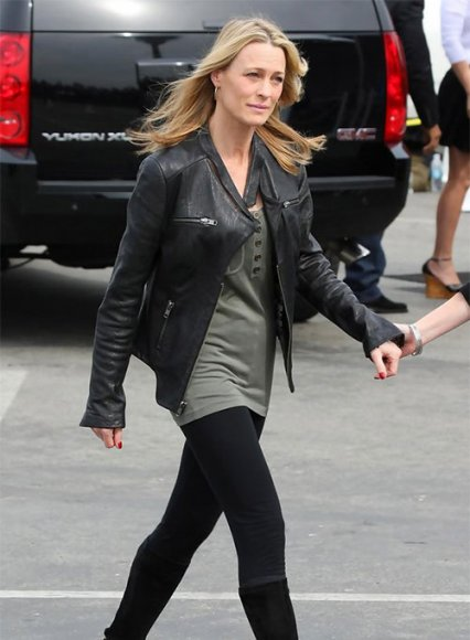 Robin Wright Leather Jacket #2
