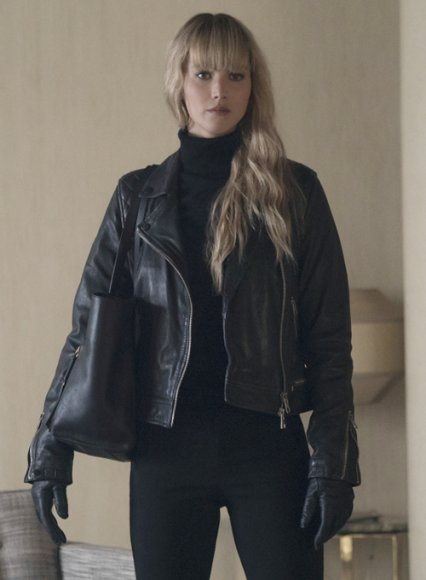 Jennifer Lawrence Red Sparrow Leather Jacket