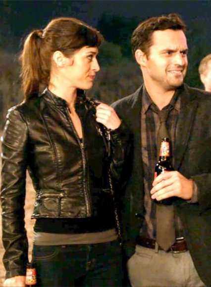 Lizzy Caplan New Girl Leather Jacket