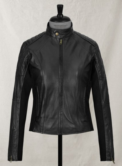 Modern Stretch Leather Jacket