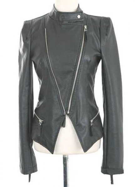 Leather Biker Jacket # 526