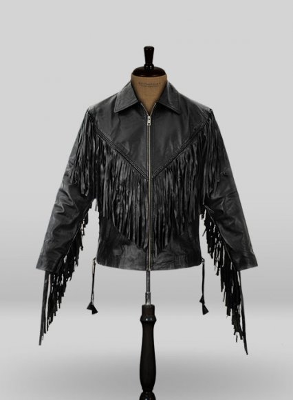 Leather Fringes Jacket #1006