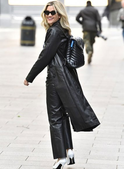 Ashley Roberts Leather Long Coat