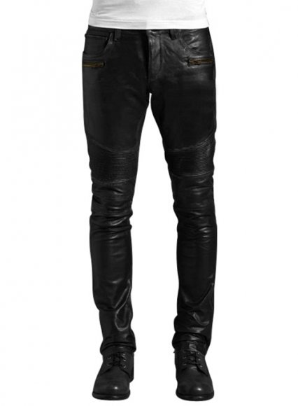 Leather Biker Jeans - Style # 512