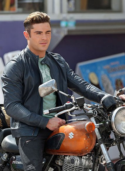Zac Efron Baywatch Leather Jacket
