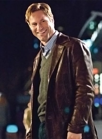 Aaron Eckhart Love Happens Leather Trench Coat