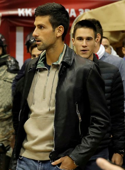 Novak Djokovic Leather Jacket