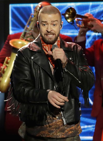 Justin Timberlake Super Bowl Halftime Show 2018 Leather Jacket