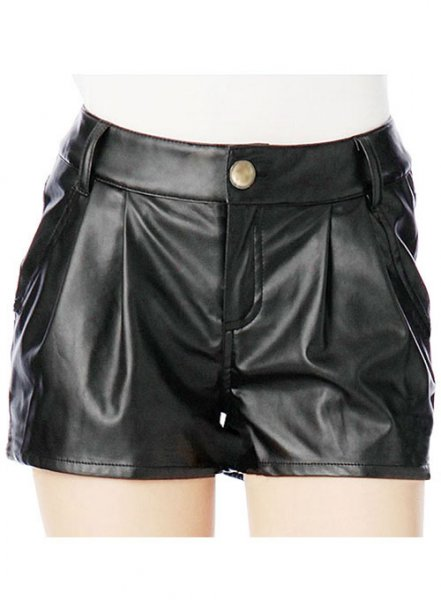 Leather Cargo Shorts Style # 366