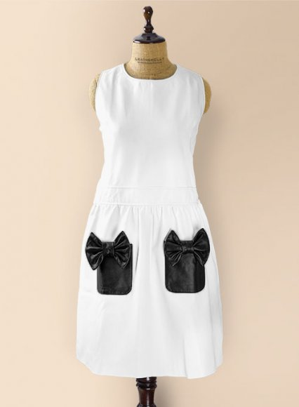 White Bowie Leather Dress - # 753
