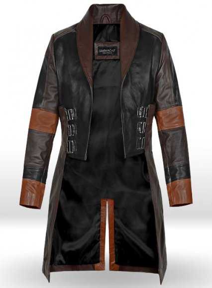 Zoe Saldana Guardians of the Galaxy Vol 2 Leather Coat