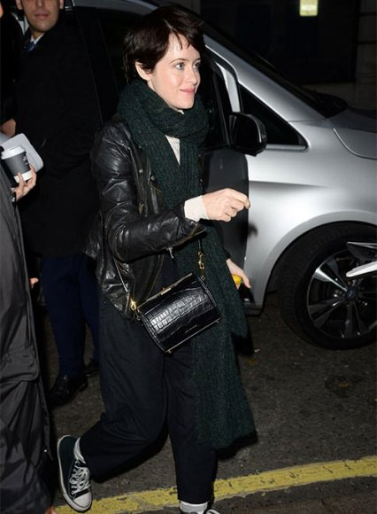 Claire Foy Leather Jacket
