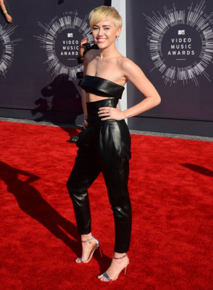 Miley Cyrus MTV Video Music Awards Leather Pants
