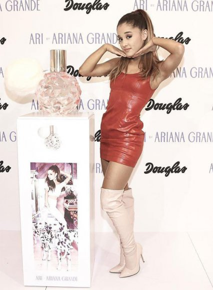 Ariana Grande Leather Dress