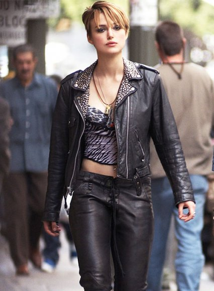Keira Knightley Domino Leather Jacket