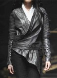 Nasty Drape Leather Jacket # 523