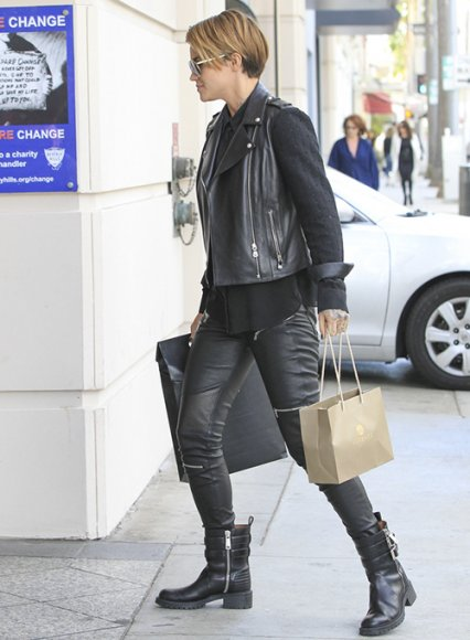 Ruby Rose Leather Pants