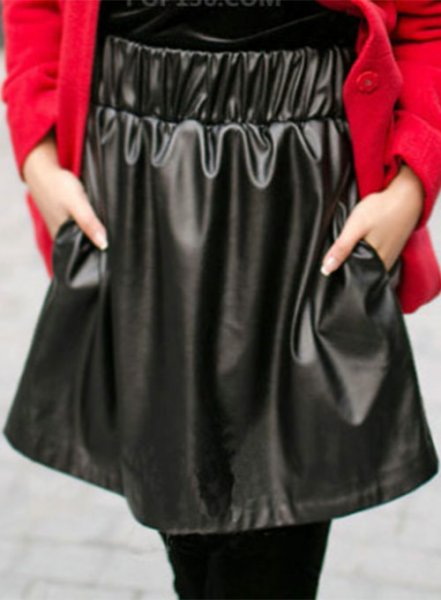 Chicklate Leather Skirt - # 154
