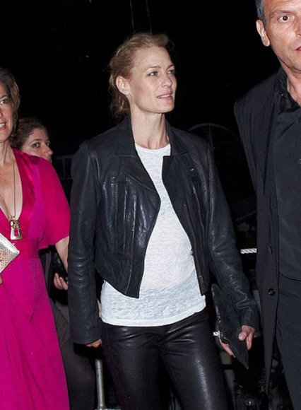 Robin Wright Leather Jacket #1