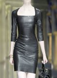 Cacoon Leather Dress - # 757