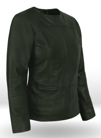 Soft Deep Olive Leather Top Style # 63