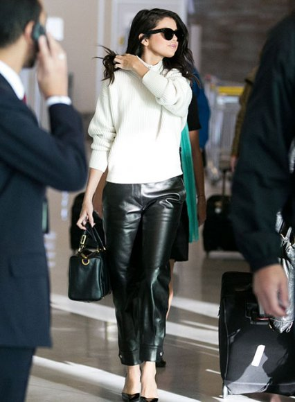 Selena Gomez Leather Pants #1