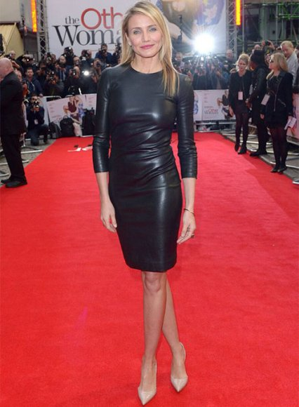 Cameron Diaz Leather Dress
