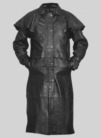 Leather Duster with Cape