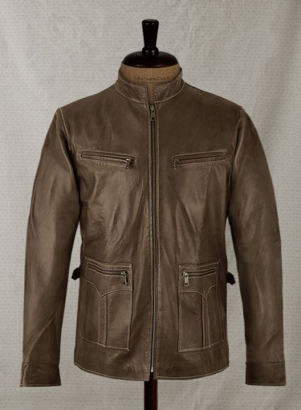 Soft Scottish Brown Washed & Wax Martin Lawrence Leather Jacket
