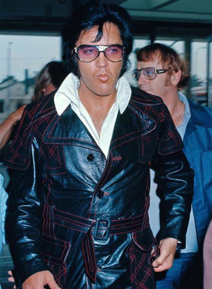 Elvis Presley Leather Long Coat