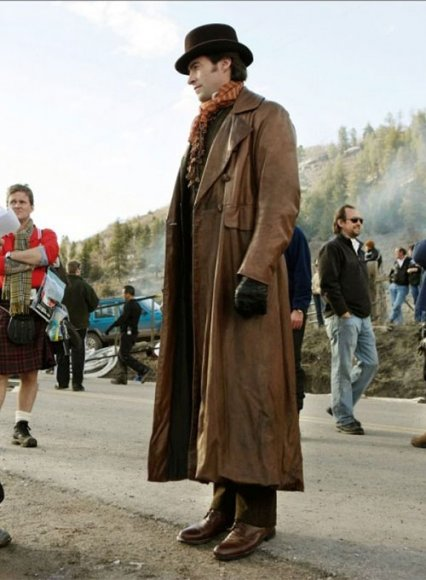 Hugh Jackman The Prestige Leather Long Coat