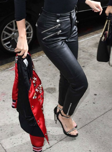 Selena Gomez Leather Pants #2