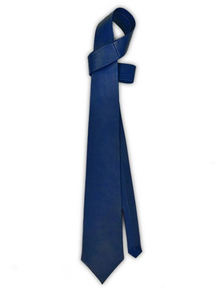 Rich Blue Leather Tie