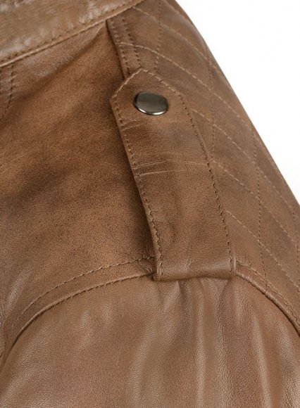 Espanol Timber Brown Brewer Leather Jacket