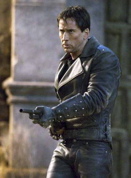 Nicolas Cage Ghost Rider Leather Jacket and Pants Set
