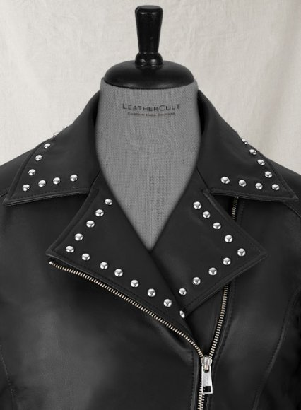 Eva Studded Leather Jacket